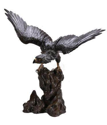 A Large Bronze Model of an Eagle
