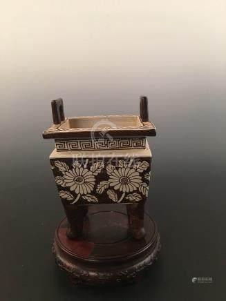 Chinese Ci Zhou Ware Porcelain Censer