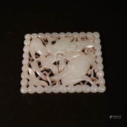 Chinese Jade Plaques With Openwork