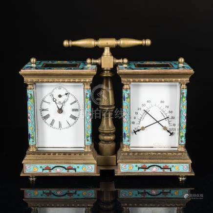 Antique/Vintage Enamel Gilt Clock