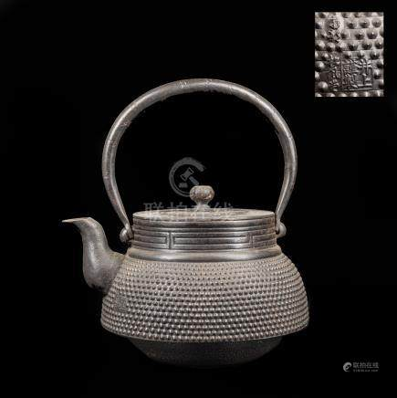 Meiji Period Large Iron Teapot