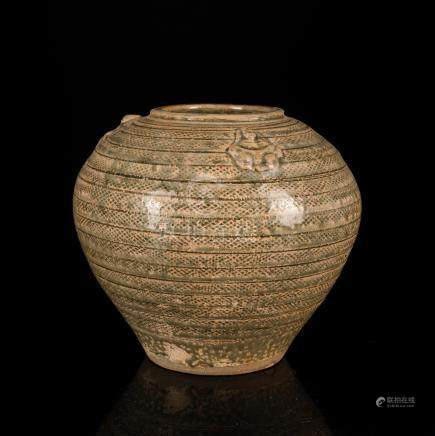 Song Dynasty Chinese Antique Yue Ware Jar