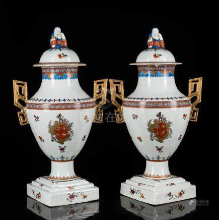 Yongzheng Period Pair Export Vase