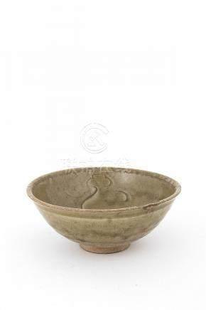 A CÉLADON-GLAZED INCISED BOWL, WANSong dynasty6 x 15 cmProve