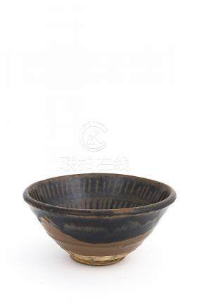 A BLACK-AND-BROWN-GLAZED 'STRIPES' BOWL, WANNorthern Song/ J