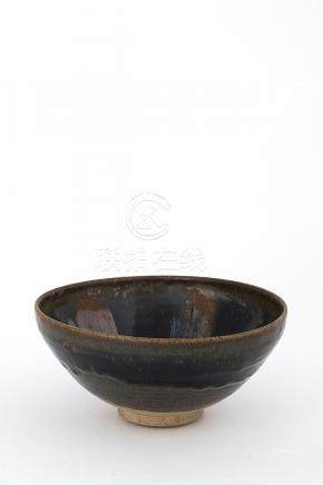 A BLACK-AND-BROWN-GLAZED RUSSET-SPLASHED BOWL, WANJin dynast