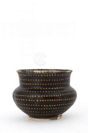 A BROWN-GLAZED CREAM-SPOTTED INCENSE BURNER Yuan dynasty9,5