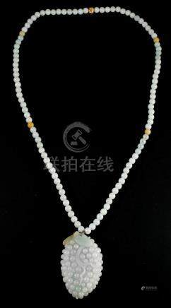 Jade Necklace Chinese Carved Grapes