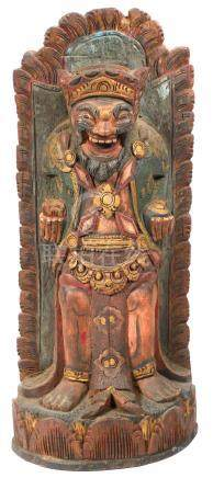 Carved Wooden Southeast Asian Statue