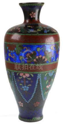 Japanese Cloisonne Vase, Meiji Period
