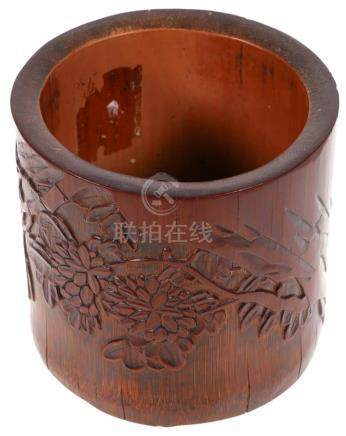 Antique Chinese Bamboo Brush Pot
