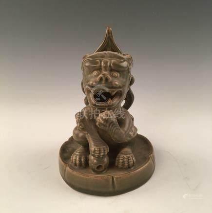 Chinese Yue Kiln Porcelain Beast