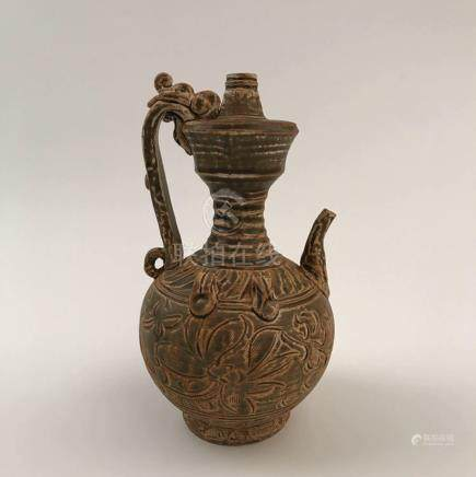 Chinese Celadon Dragon Hold Pitcher