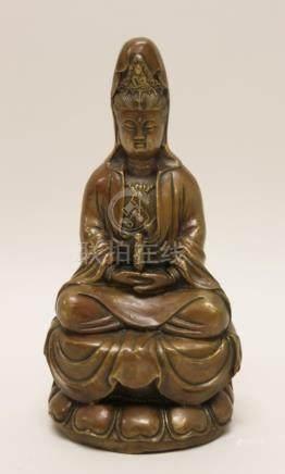 Chinese GuanYin Kwan-Yin Bronze Buddhist Sculpture