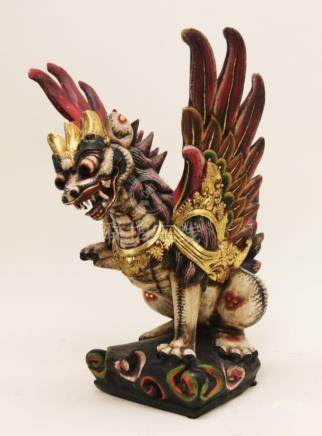Balinese Singha Barong Winged Lion Temple Statue