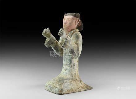 Chinese Han Kneeling Figure Statuette