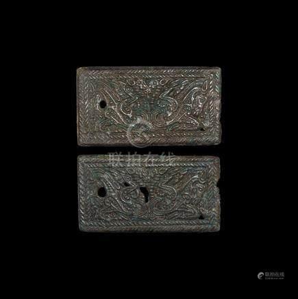 Chinese Ordos Plaque Pair
