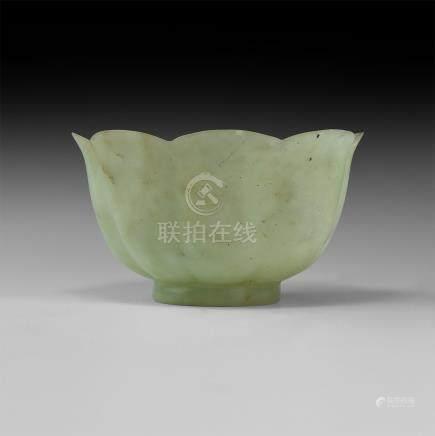 Moghul Carved Jade Cup