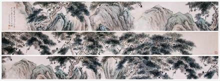 CHINESE HAND SCROLL PAINTING OF MOUNTAIN VIEWS