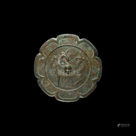 Chinese Tang Mirror with Dragon