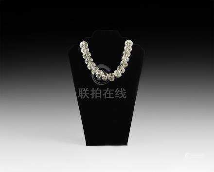 Chinese Rock Crystal Bead String