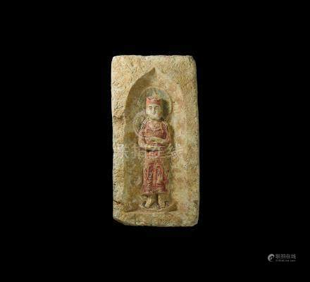 Chinese Brick with Nimbate Figure
