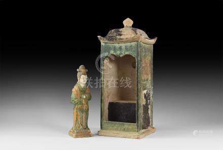Chinese Ming Palanquin with Female Occupant