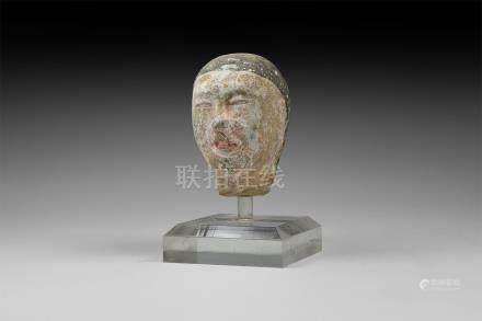 Chinese Han Terracotta Head