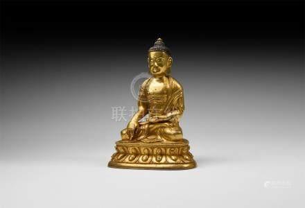 Chinese Gilt Buddha Statuette