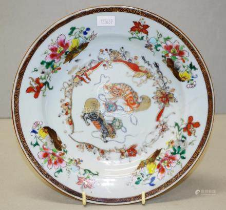 Antique Chinese Export famille rose plate