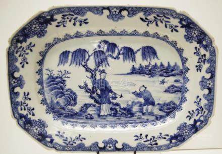 18th Century Chinese export ware serving dish