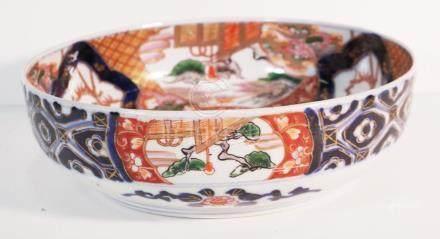Japanese Imari bowl decorated mythical creature