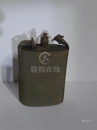 lot 230 WWI Water Bottle in canvas holder