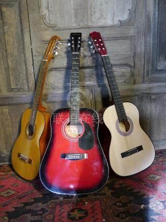 lot 243 3 Acousitc guitars