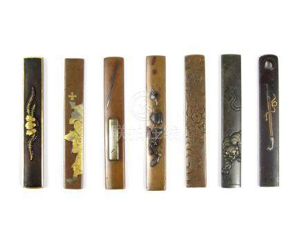 Seven kozuka Edo period, 19th century (7)