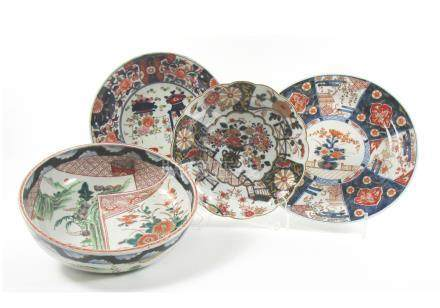 A collection of Kutani and Imari plates and dishes (10)