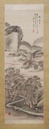 Two kakemono  By Nomura Bunkyo (1854-1911), Meiji era (4)