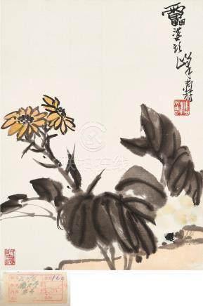Attributed to Pan Tianshou (1897 - 1971) Daisy