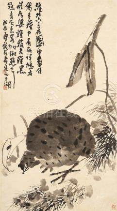 Attributed to Pan Tianshou (1897 - 1971) Turtle Dove