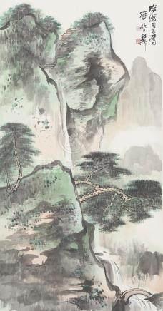 Xie Zhiliu (1910 - 1997) Green Landscape