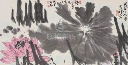 Li Kuchan (1898-1984) Lotus Pond