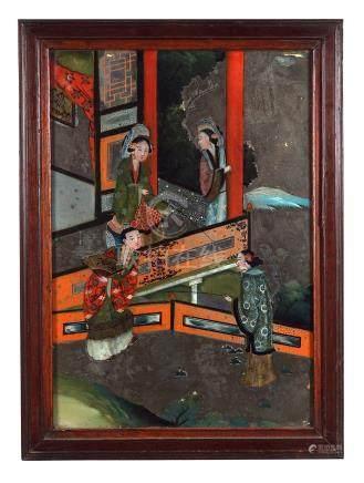 NINETEENTH-CENTURY CHINESE REVERSE GLASS PAINTING