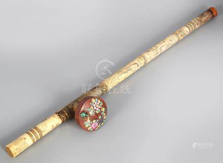 CHINESE QING PERIOD IVORY OPIUM PIPE