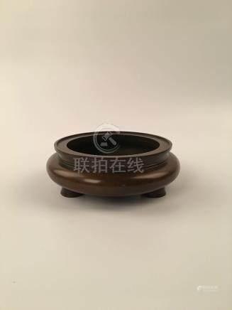 Chinese Brozen Tripod Censer