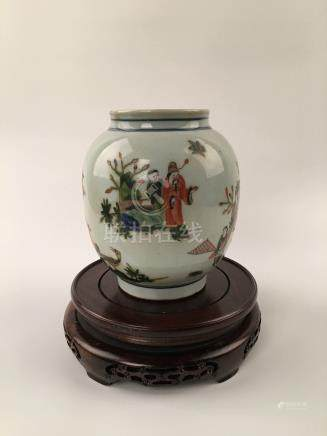 Chinese Famille Rose Porcelain Jar With Jin Yu Man Tang Mark