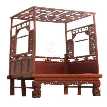 CHINESE CARVED CANOPY BED