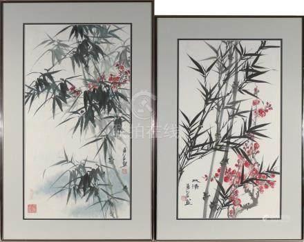 (2pc) ZHAN RENZUO (Chinese, 1954-)