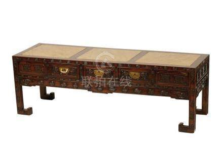 HUANGHUALI AND HOMGMU KANG TABLE, QING DYNASTY, 19TH CENTURY