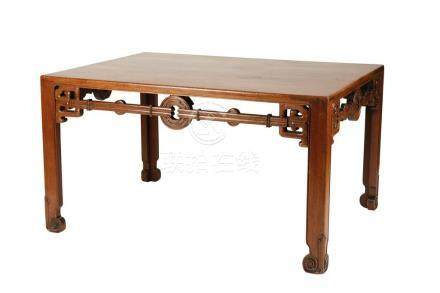 HUANGHUALI AND HONGMU WRITING TABLE, QING DYNASTY 18TH / 19TH CENTURY