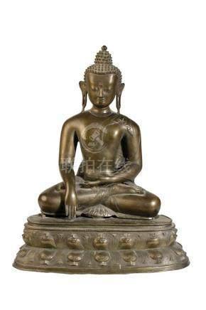 BRONZE SEATED BUDDHA, TIBET, 19TH CENTURY